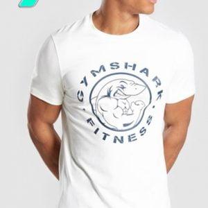 áo thun gymshark nam trắng